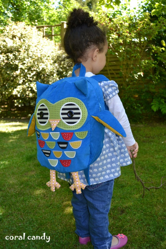 Blue Owl Unisex Toddler / Child Backpack Rucksack