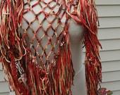 Brick Blend Crochet Shawlette handmade