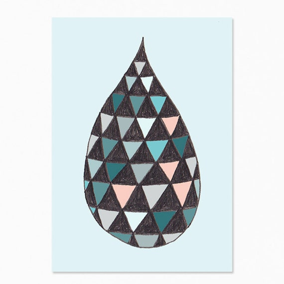 Blue Drop Postcard