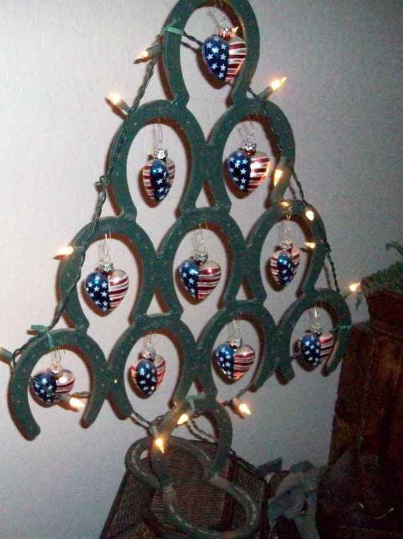 Horseshoe Christmas Tree   Table Top Size                                                Made to Order