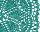 Christmas gift, Crochet doily, lace doilies, eco friendly, crocheted doilie, linen doily, hand made, table runner, napkin, Teal - faustapink900