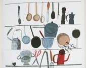 Cooking Utensils giclee print - helloemmalewis