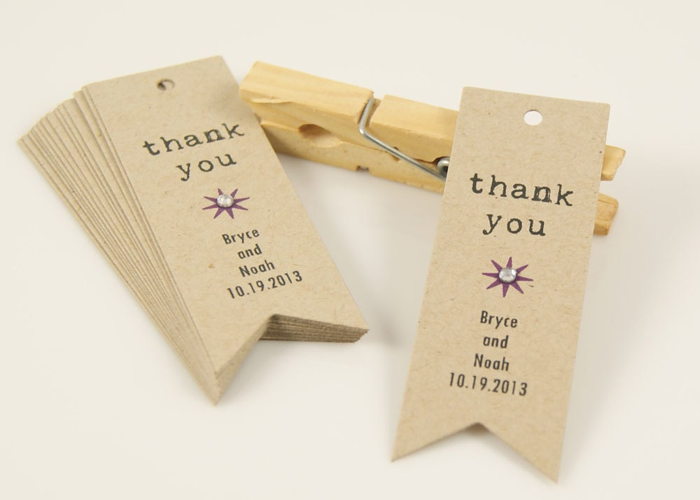 thank you tags wedding favors wording *