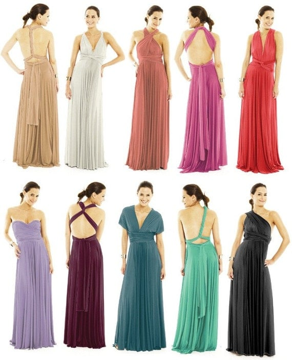 Infinity Dress, Bridesmaids Dresses, Wrap Dresses, Convertable dresses in pink