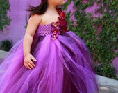 Limited Eggplant and Purple TuTu Dress. Wedding.Birthday.Flower Girl Dress - giselleboutique