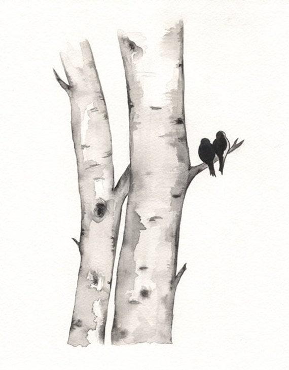 How To Draw Birch Tree