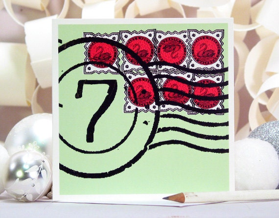 TWELVE DAYS of CHRISTMAS Holiday Remix Day 7: Seven Swans a Swimming / Limited Edition Card