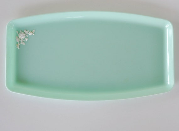 mint green vanity tray by Schwarz Bros Plastics