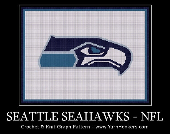 Buy Seattle Seahawks NFL - Afghan Crochet Graph Pattern Chart by YH A at AtomicMall.com