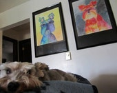 Bristol board/Heavy paper  Large 002 Original mixed media art of your pet