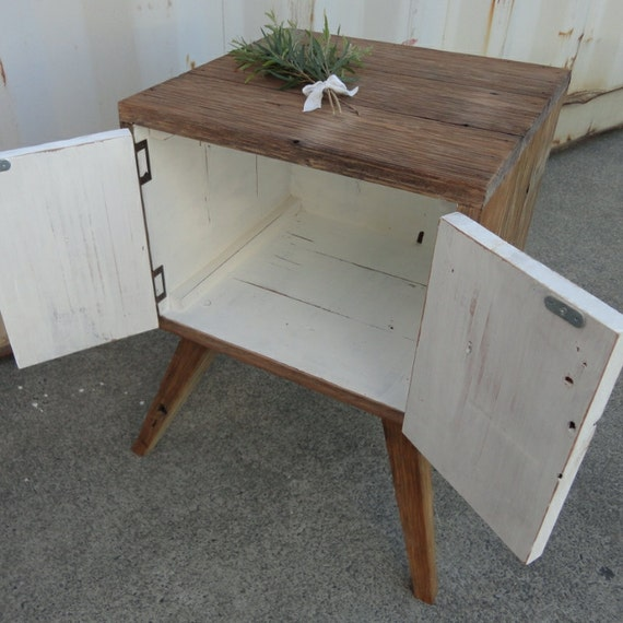 Eco-Friendly / Handmade / Hand Painted /  Recycled Repurposed Bedside / Lamp / Side Table Made From Recycled Old Queenslander Houses