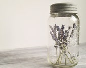 Vintage Crown Mason Jar with Lavender Wedding Decor Photo Prop - CocoAndBear