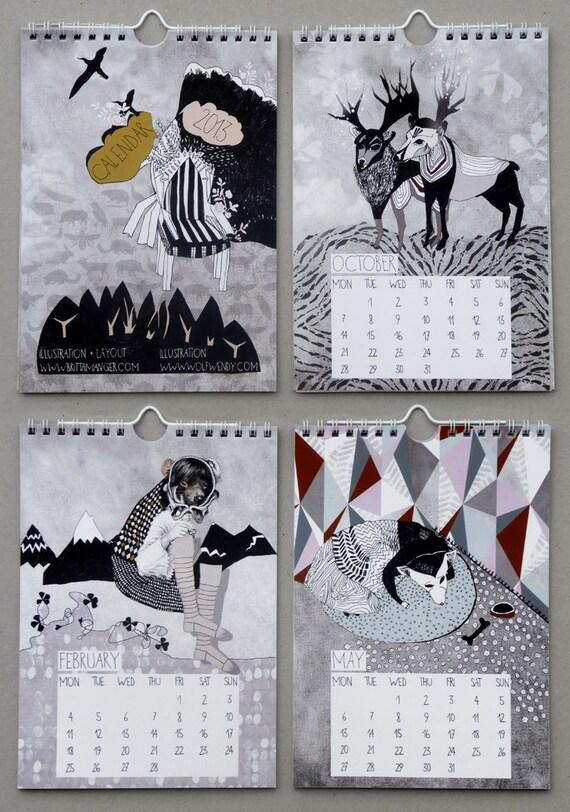 2013 Illustrated Wall Calendar