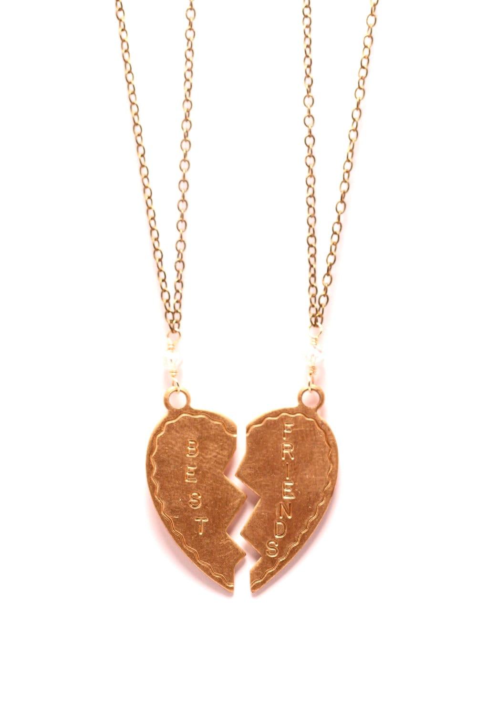 best friends necklace bff necklaces friend necklace by