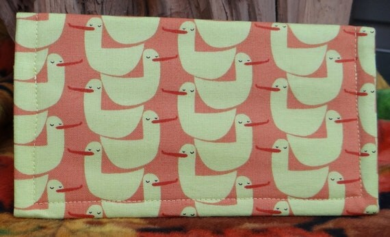 Checkbook Cover in Bird Pattern