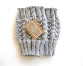 Knitted Boot Cuffs - Gray Knit Boot Cuffs - Leg Warmers - Gray - Boot Toppers - Knit Boot Socks - hilaryfrazier