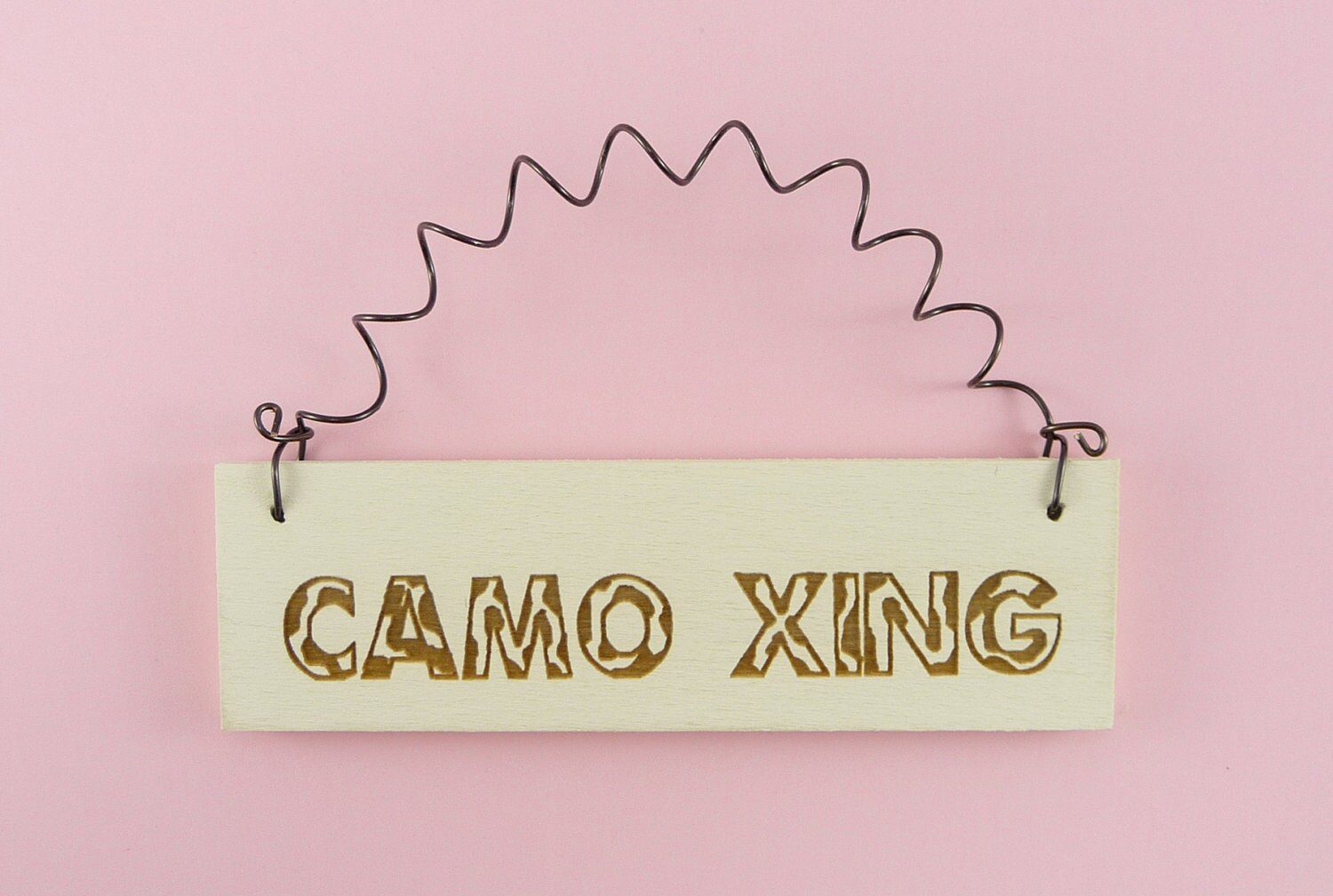 MINI SIGN Camo Xing Wooden Handpainted by CraftCreationsEtsy
