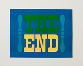 "Vintage ""The End"" poster - PumpkinAndLily"