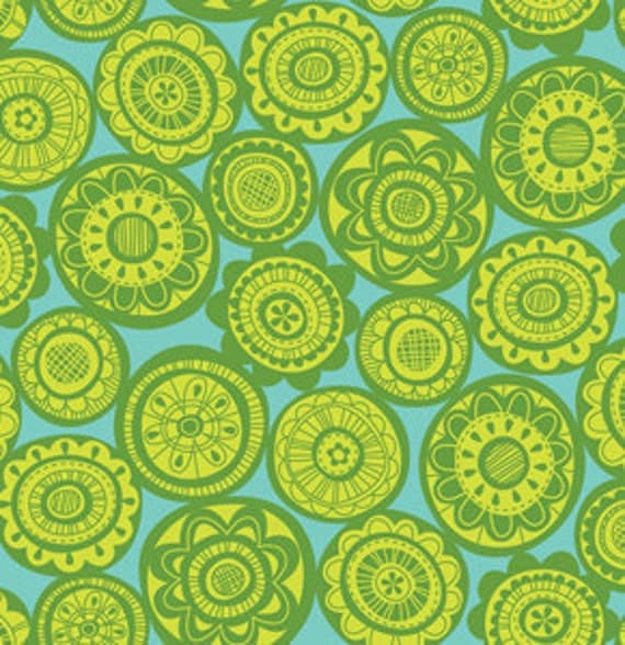 Erin McMorris Summersault Cartwheel Lime Sewing Fabric By The Yard