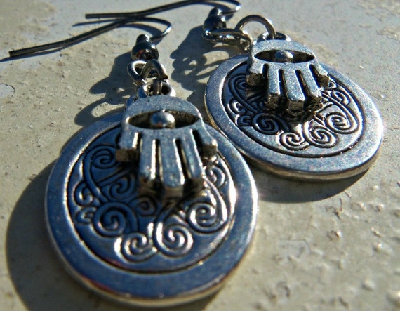 Hamsa Charm Earrings
