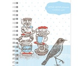 SALE 6x9 academic planner, tea time - posypaper