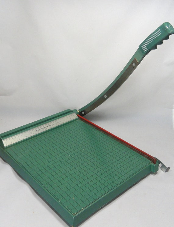 RESERVED for MrChubby Vintage Paper Cutter . Industrial . Office Supplies. Premier Photo Materials Co.