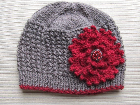 Number 79 KNITTING PATTERN Rice Stitch Hat Adult