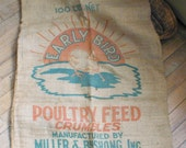 Poultry Feed Burlap Sack Early Bird 100lb Baby Chicken - thelostrooms