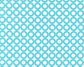 Organic Cotton Fabric Modern Whimsy Blue Circles by Laurie Wisbrun for Robert Kaufman - 1 YD - FabricFascination
