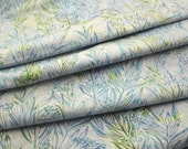 Hoffman Batik: Cotton Fabric Hand Dyed in Bali Eucalyptus Aquarius - 1 YD - FabricFascination