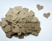 Wedding Confetti Kraft Paper Hearts // Heart Die Cuts // Heart Confetti Wedding DIY Autumn Wedding - GingerCreations