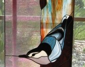 Nuthatch on tree - KathanStainedGlass