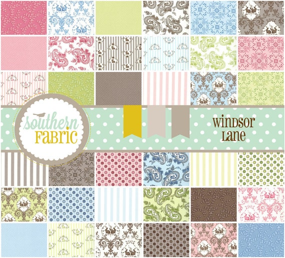 Windsor Lane by Bunny Hill Designs-- Charm 5 inch 42 Quilt Fabric Squares