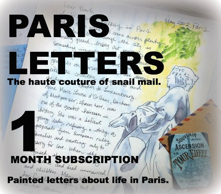 PARIS LETTERS: A letter about life in Paris - $10.00 USD
