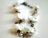 NEW - Fall Collection, Bracelet, Freshwater Pearls, Gift for Her, Creamy White, Accessories, LUXE Pearls - wulfgirl