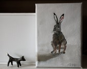 "Hare painting 7"" x 5"" - tintabernacle"
