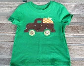 Applique Pumpkin in a Truck Fall Halloween Shirt - torilynn817