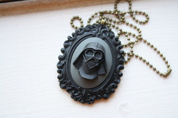 The Dark Side Darth Vader Star Wars Cameo Necklace