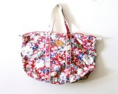 50% OFF Vintage floral overnight luggage bag beach bag - ThisVintageGirl