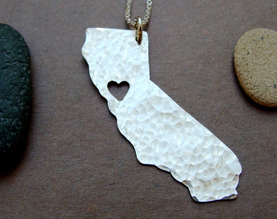 California State Necklace (sterling silver)