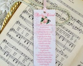 Bookmarks Religious Christian Handmade Bookmarks Richly Blessed One Pink Rose