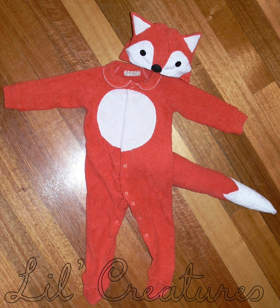 Rusty Red Fox Baby Onesie Costume with Hat - Lil' Creatures