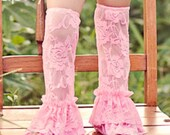 20 Colors Ruffle Bottom Stretch Lace Leg Warmers- One size fits most.