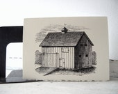 Old Barn Stationery - 5x7 Note Cards - Set of 6 - Farm Hay Barn Homestead - TerraDeiFarm