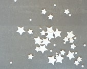Porcelain stars - table decoration // MADE TO ORDER // For Every Day, a Wedding or Dinner party // Set of 50 // Free shipping worldwide