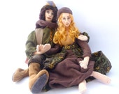 Art cloth doll couple woodland fantasy soft sculpture Decisions