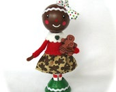 Clothespin Doll Gingerbread Girl Christmas OFG team cast team