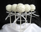 Winter Wedding Favors: Premium Wedding Cake Pops Made to Order with High Quality Ingredients