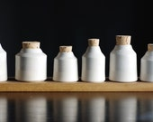 1 white porcelain bottle jar container pottery ceramic modern minimal simple kitchen - vitrifiedstudio