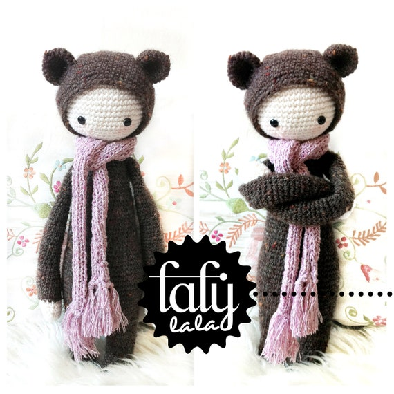 "Crochet Pattern Doll ""Bina the bear"" PDF"